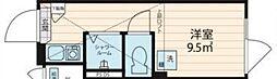 NORTH HILL Shinjuku A 1階ワンルームの間取り