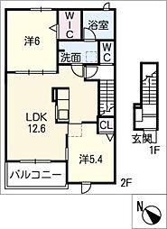 スプリングフィールドIV B[2階]の間取り