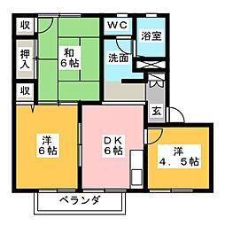 フラット・トラスト D棟[2階]の間取り