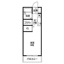 オオタマンション[204号室]の間取り