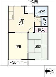 クレールハイツ[2階]の間取り