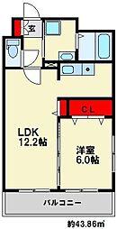 ドゥリアード南福岡[4階]の間取り