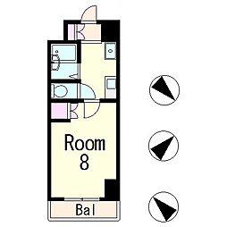 ディアコート青地2[2階]の間取り