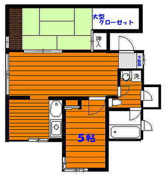 東京都多摩市南野2丁目の賃貸マンションの間取り