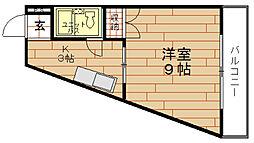 大阪府大阪市西区川口3丁目の賃貸マンションの間取り