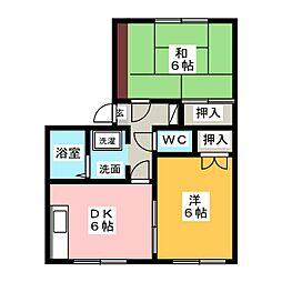 メゾン庭瀬 C棟[1階]の間取り
