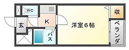 大阪府大阪市平野区平野本町1丁目の賃貸マンションの間取り