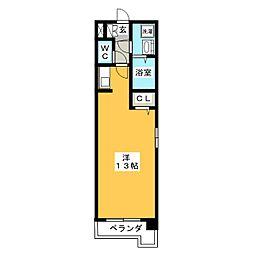 スパークル[4階]の間取り