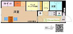 神奈川県相模原市中央区宮下本町2丁目の賃貸アパートの間取り