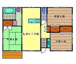 [一戸建] 宮崎県小林市大字堤 の賃貸【/】の間取り