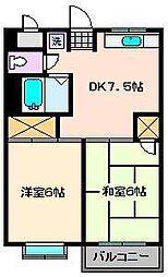 第1タカサハイム[3階]の間取り