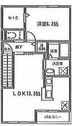 コンフォートグレイス[C-205号室]の間取り