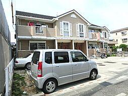 愛知県あま市本郷三反地の賃貸アパートの外観