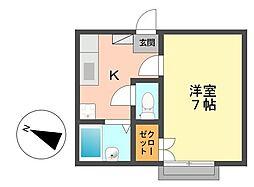 東京都江戸川区西篠崎2丁目の賃貸アパートの間取り