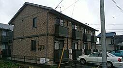 群馬県高崎市中居町の賃貸アパートの外観