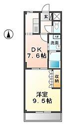 愛知県清須市西市場4丁目の賃貸マンションの間取り