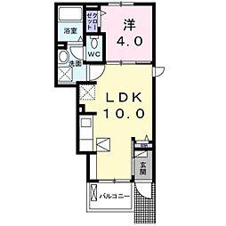 西武池袋線 武蔵藤沢駅 徒歩17分の賃貸アパート 1階1LDKの間取り