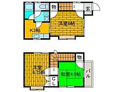 [タウンハウス] 東京都町田市金井5丁目 の賃貸【/】の間取り