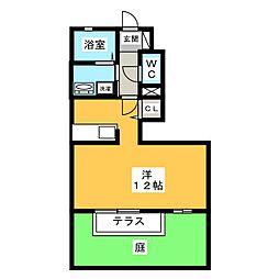 ソフィアB棟[1階]の間取り