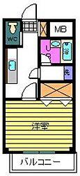 東京都江戸川区東葛西7丁目の賃貸アパートの間取り