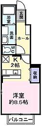 東京都福生市大字福生の賃貸アパートの間取り