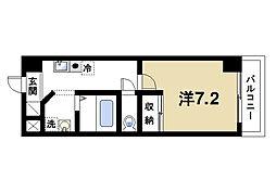 奈良県奈良市大宮町6の賃貸マンションの間取り