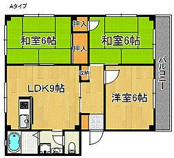 第2グリーンハウス[3階]の間取り