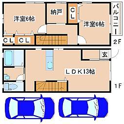 [テラスハウス] 兵庫県神戸市西区水谷2丁目 の賃貸【兵庫県 / 神戸市西区】の間取り