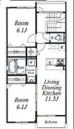 三宅マンション[3階]の間取り