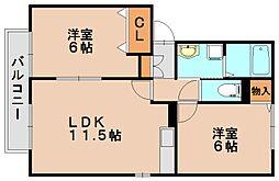 ファベルテンポ[2階]の間取り