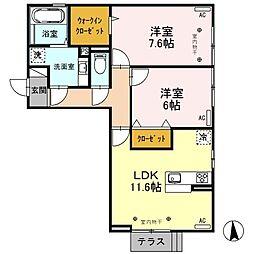 (仮)D-room元町[201号室]の間取り