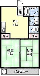 カーサデ東山[312号室号室]の間取り