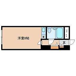 奈良県奈良市角振町の賃貸マンションの間取り