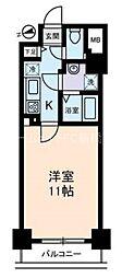 セザールスカイタワー銀座東[6階]の間取り