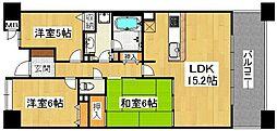 ペルル堺ウイングタワー[4階]の間取り