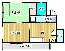 クレインハウス[2階]の間取り