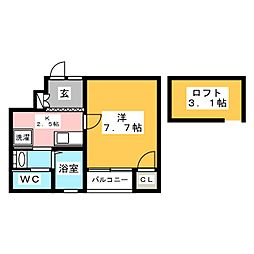 ラピス貝塚[1階]の間取り