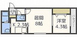 E−horizon麻生(旧:プライムコート麻生)[3階]の間取り