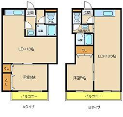 YKハイツ別所町401 吉田建設[4階]の間取り