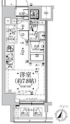スパシエロッサ横浜吉野町[6階]の間取り