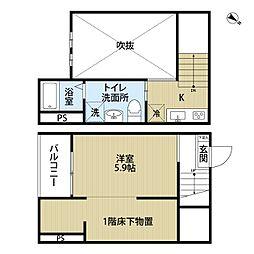 愛知県名古屋市南区千竈通3丁目の賃貸アパートの間取り