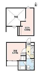 フォレスト川田[2階]の間取り