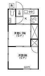 東京都葛飾区柴又2丁目の賃貸アパートの間取り