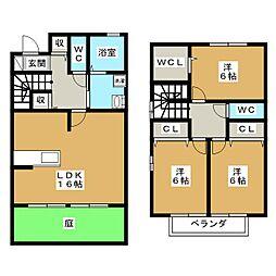 [テラスハウス] 愛知県日進市藤塚5丁目 の賃貸【/】の間取り