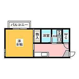 サンモール緑 B棟[1階]の間取り