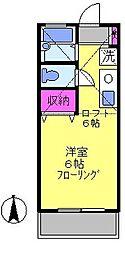 東京都稲城市坂浜の賃貸アパートの間取り
