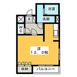 シェルル万場[1階]の間取り