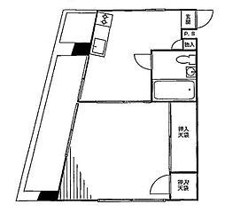 ビッグ武蔵野池袋[3階]の間取り