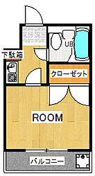 さつきハイツ[4階]の間取り