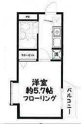 東京都目黒区駒場2丁目の賃貸マンションの間取り